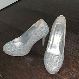 Shoes - Silver High Heels